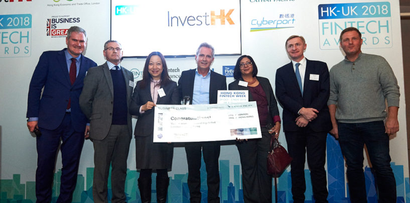 London Data Analytics Company Mosaic Smart Data Wins Inaugural  InvestHK UK Fintech Awards 2018