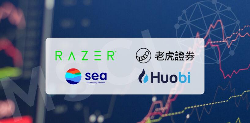 UP Fintech, Huobi Technology, Sea, Razer Added in MSCI Global Indexes