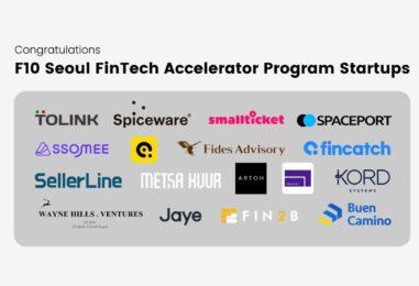 17 South-Korean Fintech Startups Graduates F10's Accelerator Programme